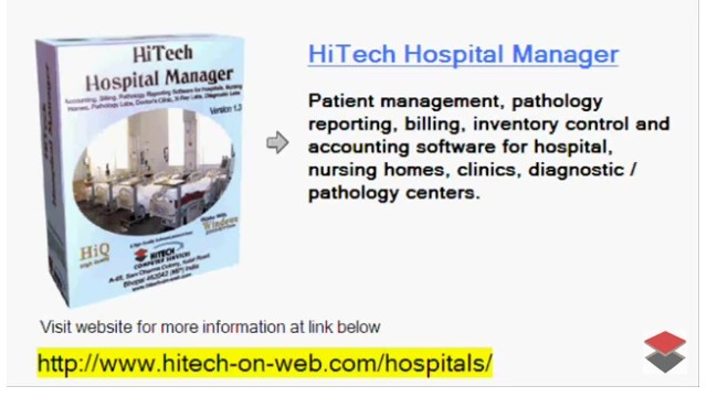 Hospital Management Software, Hospital Software, Accounting Software for Hospitals, Accounting and Business Management Software for hospitals, nursing homes, diagnostic labs. Modules : Rooms, Patients, Diagnostics, Payroll, Accounts & Utilities. Free Trial Download.